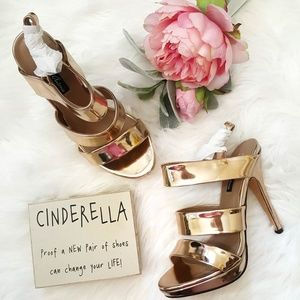 Michael Antonio Kenz Metallic Rose Gold Platform